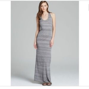 Vince Heathered Gray Summer Scoop Neck Maxi-Dress